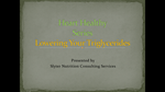 Heart Healthy Webinar Series Part 2 High Triglyceride